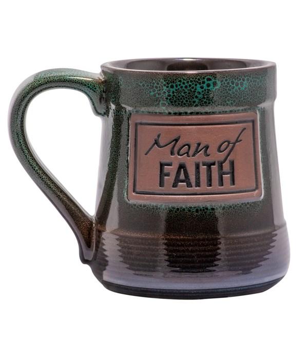 MAN OF FAITH POTTERY MUG BOXED