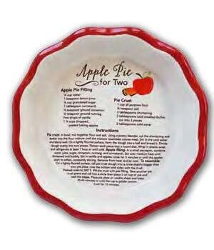 APPLE PIE FOR 2 MINI PIE PLATE BOXED W/RECIPE CARD