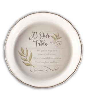 AT OUR TABLE PIE PLATE BOXED 10 1/2 in.  , 2 in.   DEEP