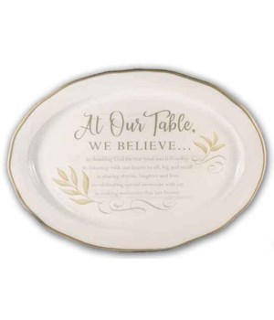 AT OUR TABLE PLATTER BOXED 14 in.   x 10 in.