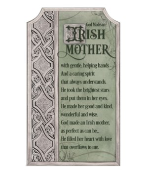 IRISH MOTHER PLAQUE W/EASEL & HANGER INDIVIDUALLY BAG