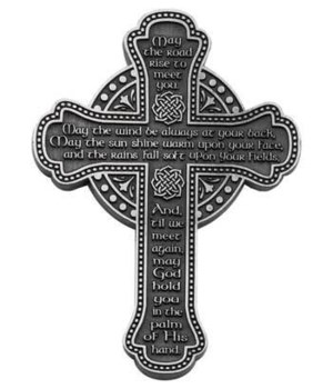 BF 5.5 in.   IRISH BLESSING MESSAGE WALL CROSS GIFT BOXED