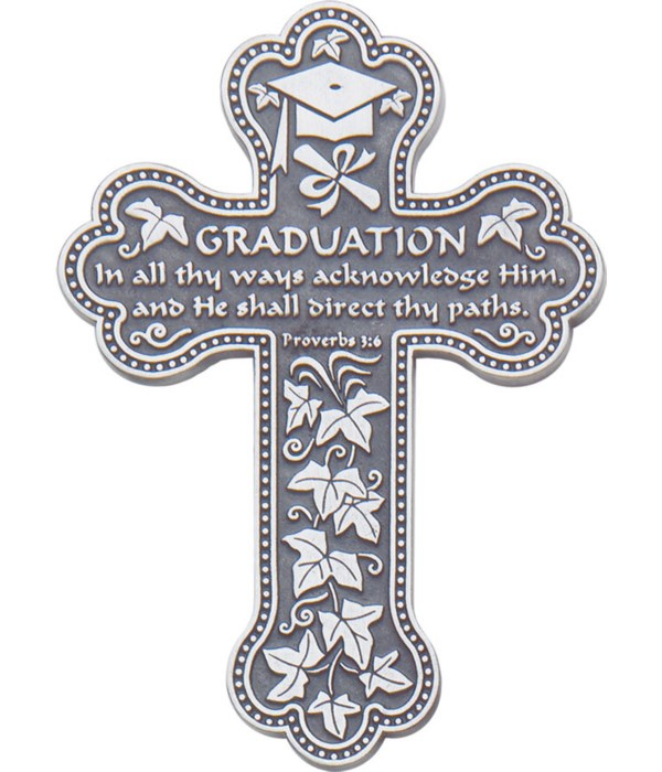 BF 5.5 in.   GRADUATION MESS WALL CROSS GIFT BOXED