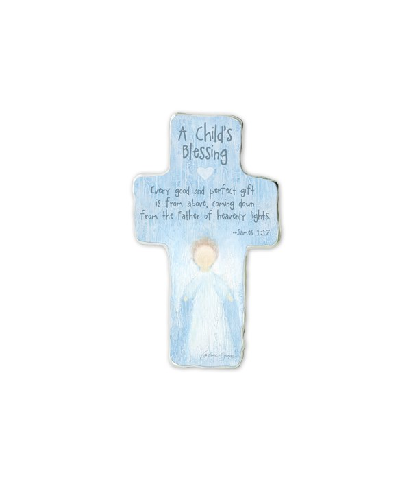 EVERY GOOD & PERFCT GIFT CROSS PLAQUE TISSUE WRAPPED & BOXED