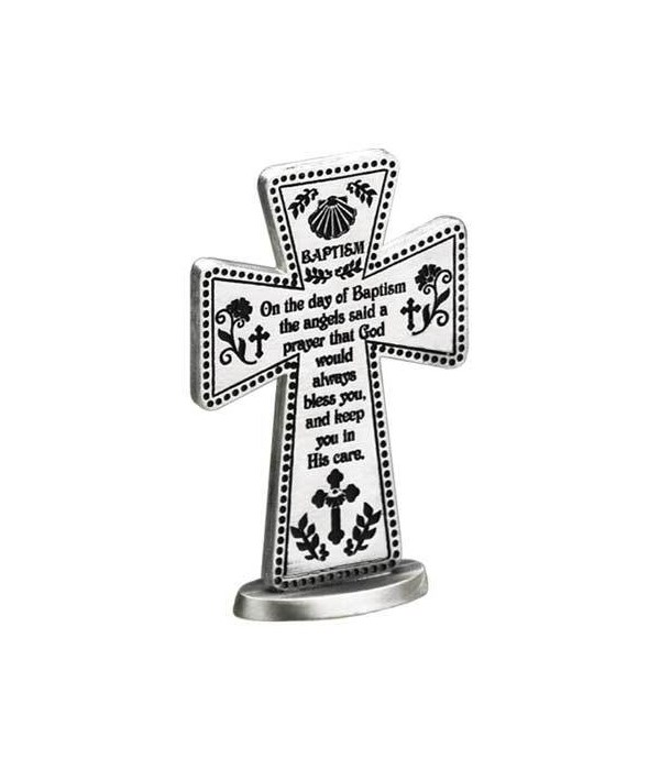 BAPTISM 3 in.   STANDING MESS CROSS GIFT BOXED