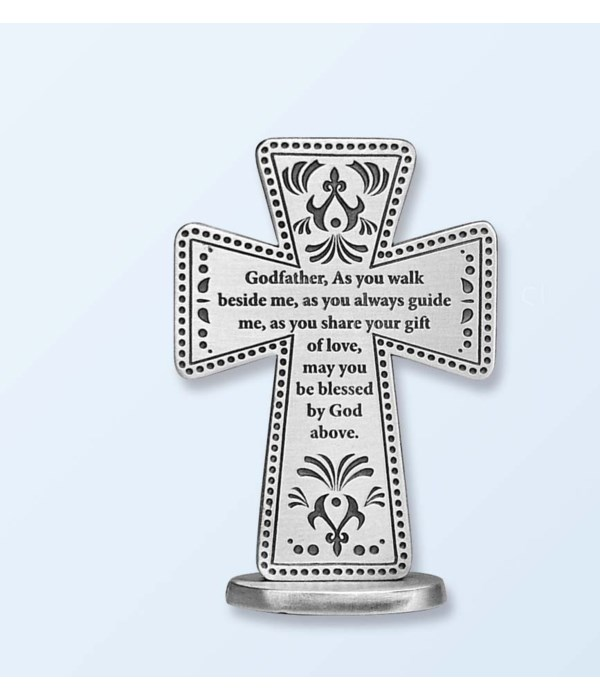 GODFATHER 3 in.   STANDING MESSAGE CROSS GIFT BOXED