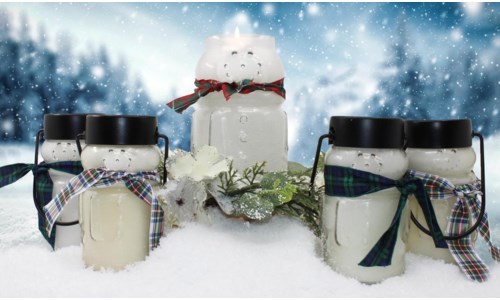 SNOWMAN CANDLES BABY 10 OZ