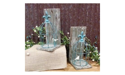 Bird Cage Book Ends Set of 2