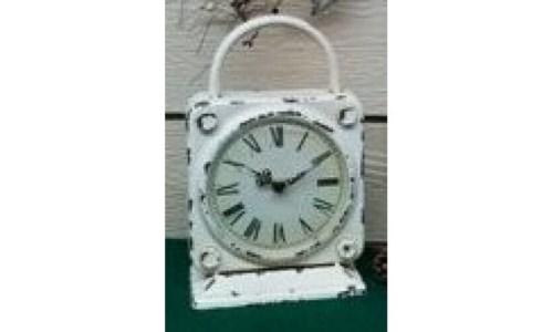 Cr Distress Clock 11.75 x 7.5 in.