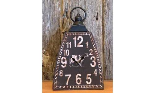Black Dist Cow Bell Clock