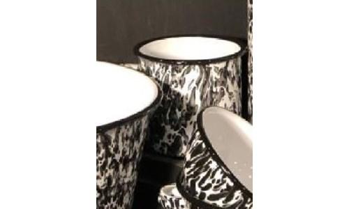 Black Splatter Soup Mug