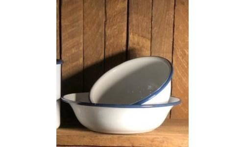 Blue Rim Cereal Bowl