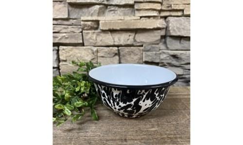 Black Splatter Cereal Bowl