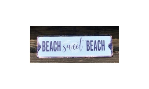 Beach Sweet Beach Metal Sign