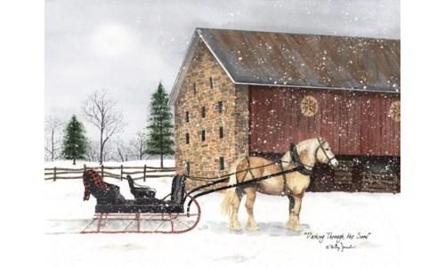 Dashing Through Snow Canvas