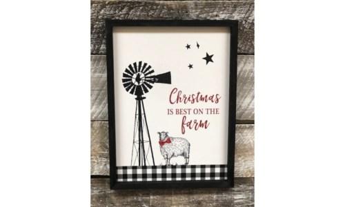 Christmas Best On Farm Sign