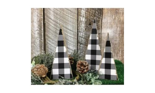 Black Checkered Tree (set 3)