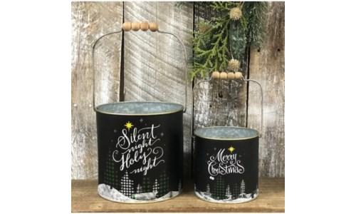 Black Christmas Buckets (set 2