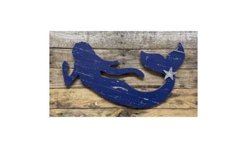 Blue Dist Mermaid Wall Hanger