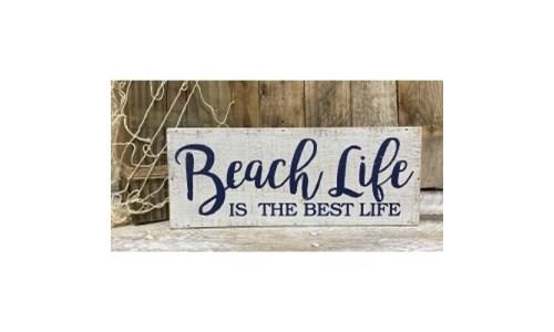 Beach Life Box Sign