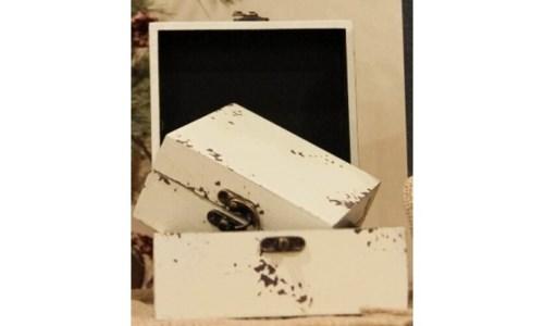 Cream Distressed Boxes Set 2
