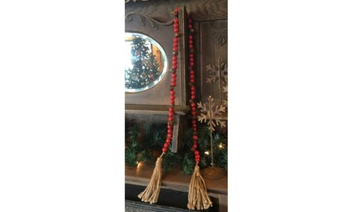 Rusty Bell Bead Strand 60 in.