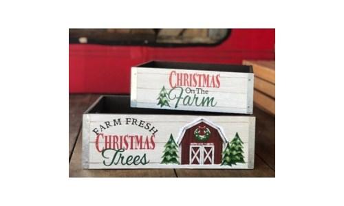 Christmas Barn Box (Set of 2)