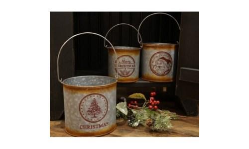 Christmas Buckets (set of 3)