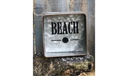 Beach Metal Box 6 in.x6 in.x2.5 in.
