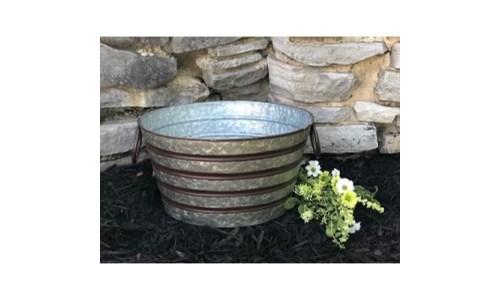 Copper Stripe Round Bucket