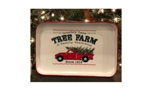 Country Lane Tree Farm Tray