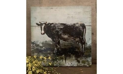 Cow Artwork Box Sign
