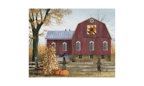 Autumn Quilt Barn Canvas 8 x 10 in.