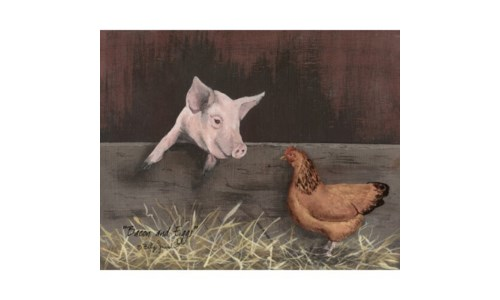 Bacon And Eggs Canvas 12 x 16 in.
