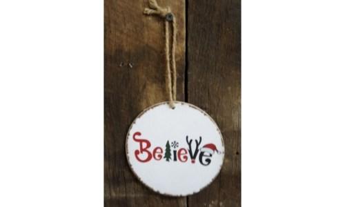 Believe Round Ornament
