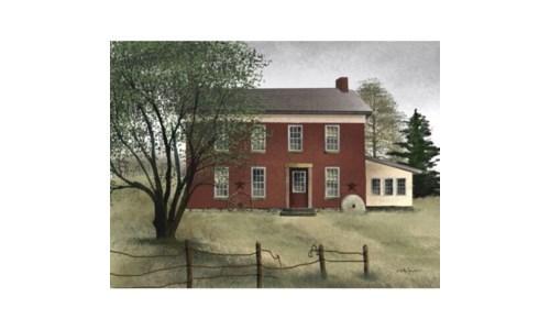 Brick Farmhouse 12 x 16 in.