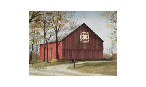 Amish Star Quilt Block Barn