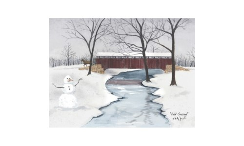 Cold Crossing Canvas 12 in.x16 in.