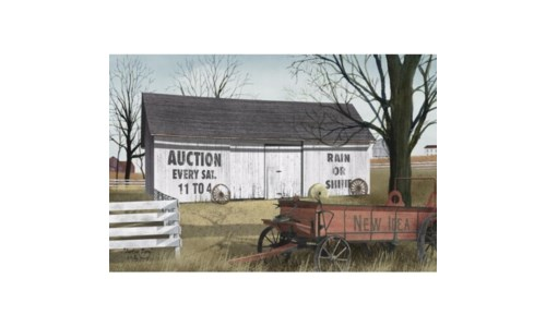 Auction Barn Canvas 12 in.x18 in.