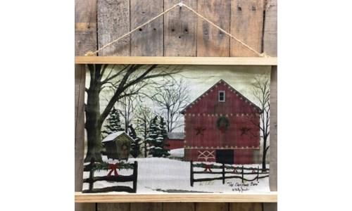 Christmas Barn Banner 14.5x20