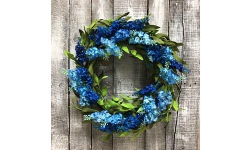 Blue Lilac Wreath 20 in.