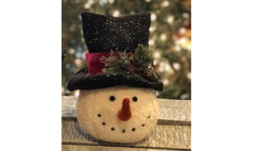 Blk Hat Red Band Snowman Head