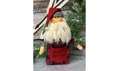 Gray Hat Santa