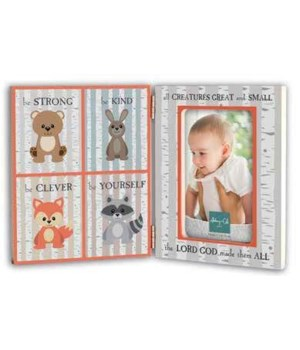 ALL CREATURES HINGED FRAME W/ WOODLAND ANIMALS BOXED