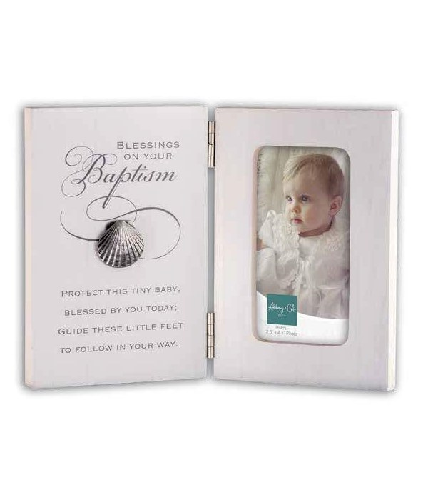 BAPTISM HINGED FRAME W/SHELL BOXED