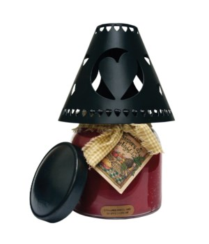 Heart Tin Candle Shade Black