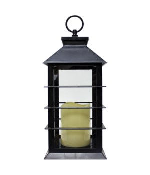 Indoor/Outdoor LED Lantern-Black