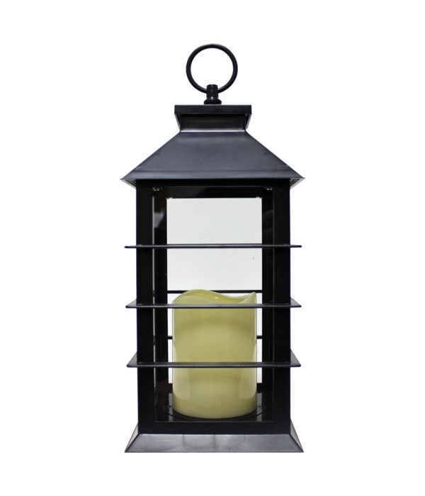 Indoor/Outdoor LED Lantern-Black
