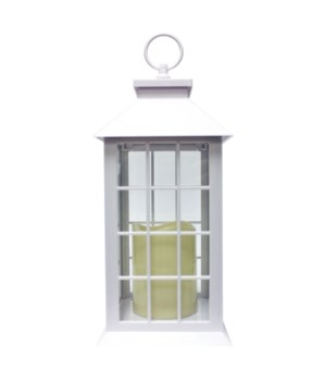 Indoor/Outdoor LED Lantern-White