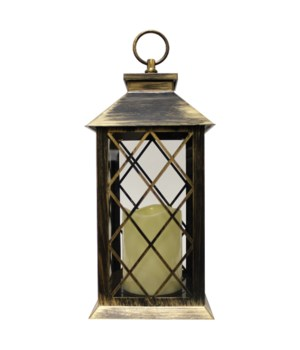 Indoor/Outdoor LED Lantern-Copper